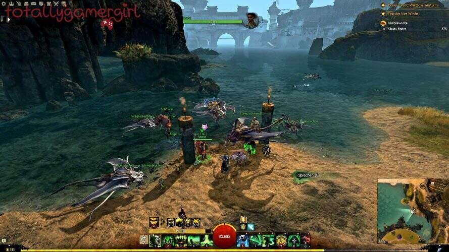 Guild Wars 2 Über die Tiefen Hinweg Beherrschung - Suche nach Sibaha - Sibaha Löwenstein