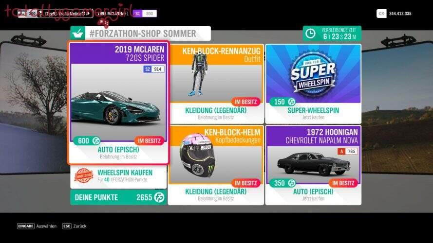 Forza Horizon 4 Forzathon Shop KW 47 2020